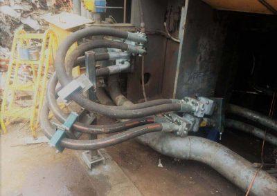 Ultra high pressure hose assemblies for scrap metal processing